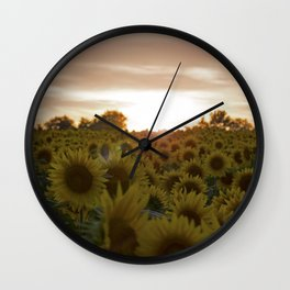 Saffron Sunset Wall Clock