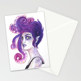Punk Mermaid Stationery Cards