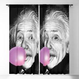 albert einstein blow bubble gum Blackout Curtain