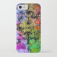 iPhone Cases featuring many dots III by donphil