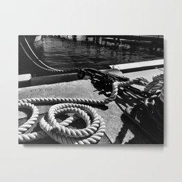 Rope on the Harbor Metal Print