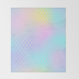 Rainbow Mermaid Abstraction Throw Blanket