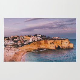 Carvoeiro town and beach in Lagoa, Algarve, Portugal. Rug