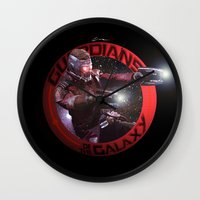 thanos Wall Clocks featuring StarLord - Guardians of the Galaxy by Leamartes