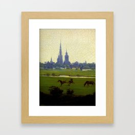 Meadows near Greifswald (1820-22)  by Caspar David Friedrich 1774-1840 Framed Art Print