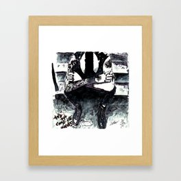 And out come the wolves Framed Art Print