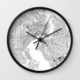 Jacksonville White Map Wall Clock