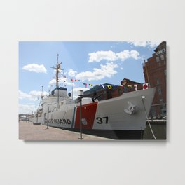 Coast Guard 37 Baltimore Harbor Metal Print