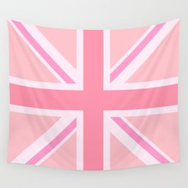 Pink Union Jack/Flag Design Wall Tapestry