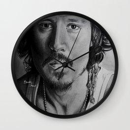 Johnny Depp Wall Clock