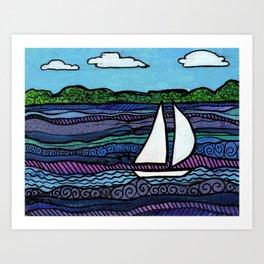 Breezy Day Art Print