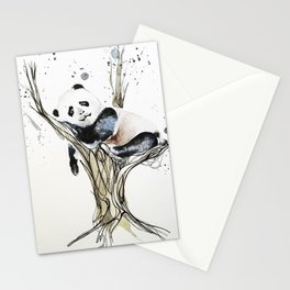 Panda in the Tree Stationery Cards