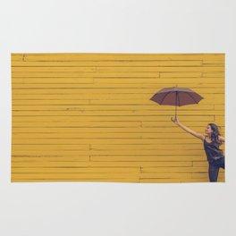 Yellow wall Rug