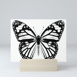 Monarch Butterfly | Black and White Mini Art Print