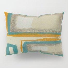 Soft And Bold Rothko Inspired - Corbin Henry Modern Art - Teal Blue Orange Beige Pillow Sham