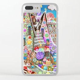 The Gingerbread Mansion Clear iPhone Case