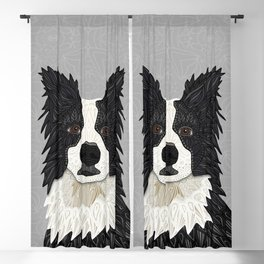 Beautiful Border Collie Blackout Curtain