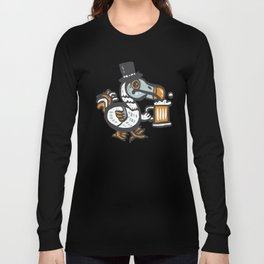Dodo with beer Long Sleeve T-shirt