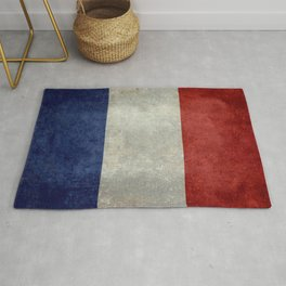 French Flag with vintage textures Rug