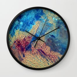 Sahara Desert From the Space Station Wall Clock