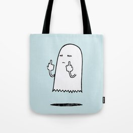 Double F-You Ghost (Blue) Tote Bag