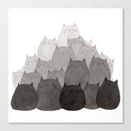 Kitty Pile Canvas Print
