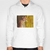 cheetah Hoodies featuring Cheetah by Michelle Behar