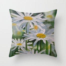 Daisy Garden Throw Pillow