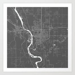 Bismarck USA Modern Map Art Print Art Print
