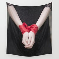 bondage Wall Tapestries featuring Bound by Maria Heyens