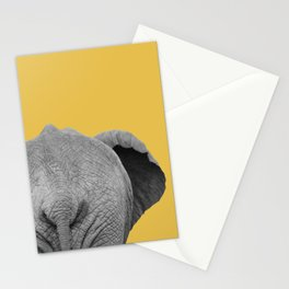 Elephant Wet Bum (Light Mustard) Stationery Cards