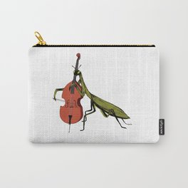 Praying Mantis Tries Cello Carry-All Pouch