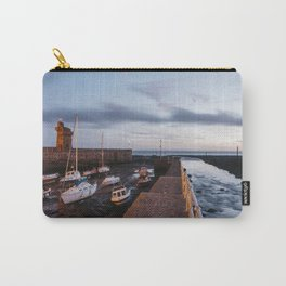 Boats in Lynmouth Harbour at dawn twilight. Devon, UK. Carry-All Pouch