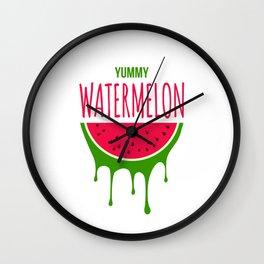 Yummy Watermelon Wall Clock