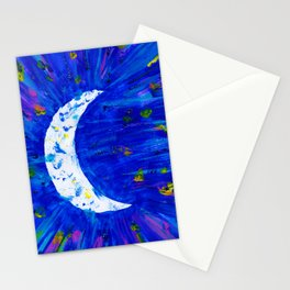 Glitter Crescent Moon Phase Stationery Cards