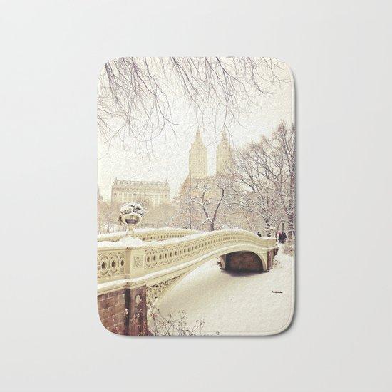 New York City Snow Wonderland Bath Mat