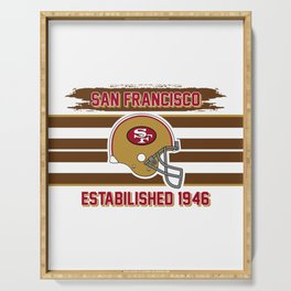 49ers club san francisco Serving Tray