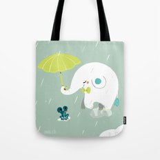 Rainy Elephant Tote Bag