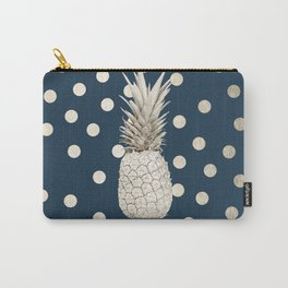 Gold Pineapple Polka Dots 2 Carry-All Pouch