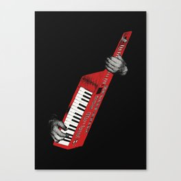 Keytar - Red Canvas Print