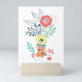 Flower Girl in the Garden Mini Art Print