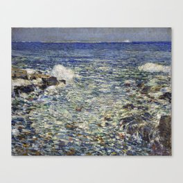 Childe Hassam Surf, Isles of Shoals Canvas Print