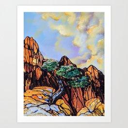 Juniper Sunset Art Print