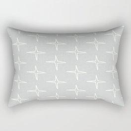 Nautical Star Grey  #homedecor Rectangular Pillow