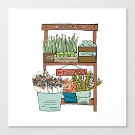 Mei's Farm Stand Canvas Print