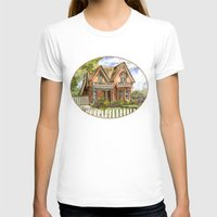 victorian T-shirts featuring Victorian Beauty by Shelley Ylst Art