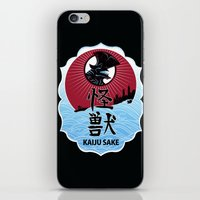 kaiju iPhone & iPod Skins featuring Kaiju Sake by zerobriant