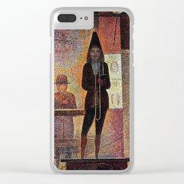 La parade du cirque by Georges Seurat Clear iPhone Case
