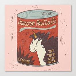 Unicorn Meatballs Canvas Print