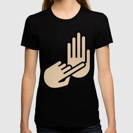 Flint Michigan Hand Map T-shirt